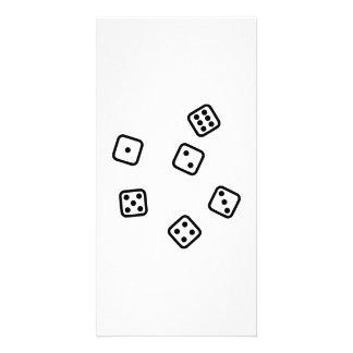 Gambling dice custom photo card