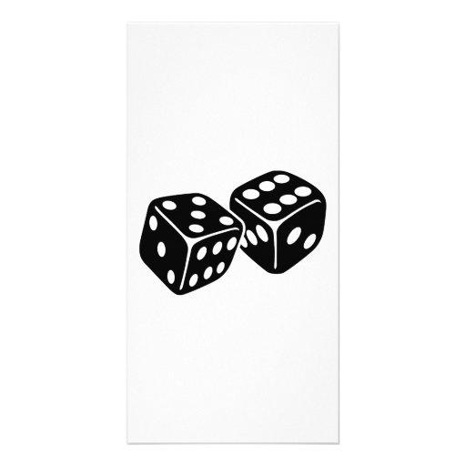Gambling dice photo greeting card