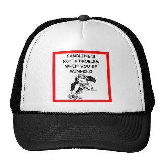 GAMBLING TRUCKER HAT