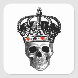 Gambling King Square Sticker