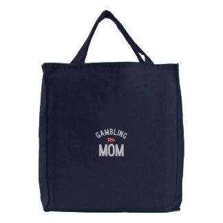 Gambling Mom Embroidered Bag