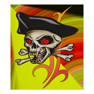 Gambling Pirate Print and Poster