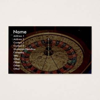Gambling, roulette business card