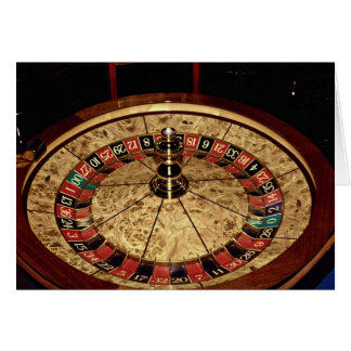 Gambling, roulette card