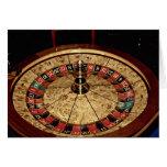 Gambling, roulette greeting card