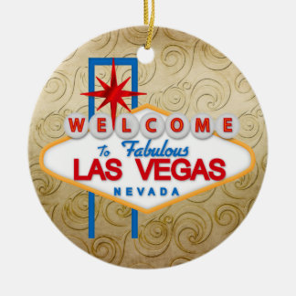 Gambling - Vegas Ceramic Ornament