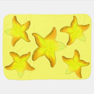 Gamboge Starfish Baby Blanket