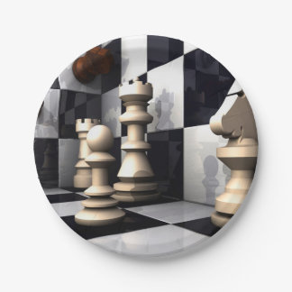 Game Chess Style Paper Plate