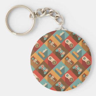 Game Controller Pattern (Hipster Style) Key Ring
