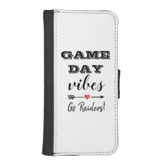 Game Day Vibes Team Heart Personalized Text iPhone SE/5/5s Wallet Case