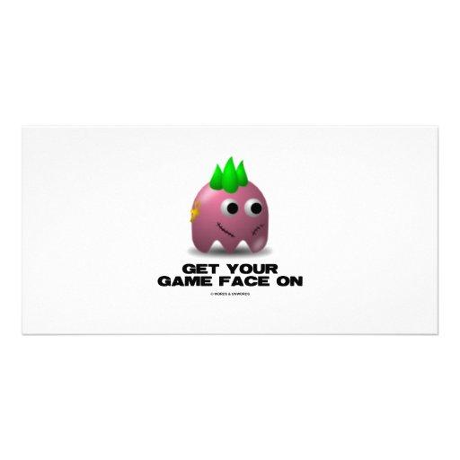 Game Face Punk (Retro Avatar) Photo Card