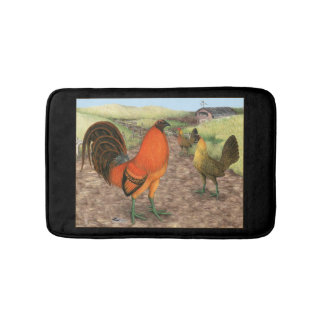 Game Fowl on the Farm Bath Mat