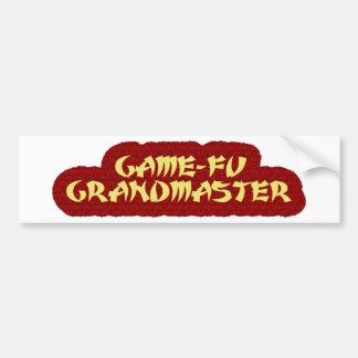 GAME-FU GRANDMASTER BUMPER STICKER