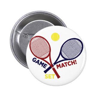 Game Match Set 6 Cm Round Badge
