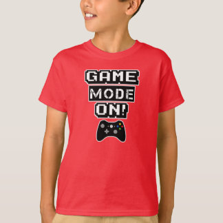 Game Mode On funny boys video game shirt