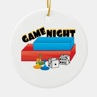 Game Night Ceramic Ornament
