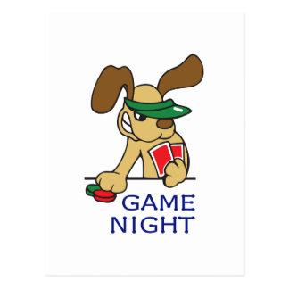 GAME NIGHT POST CARD