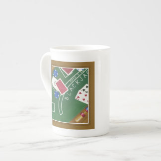 Game of Blackjack with Chips by Chariklia Zarris Tea Cup