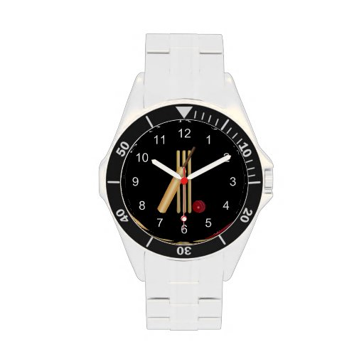 Game of Cricket, Bat and Ball Wristwatches