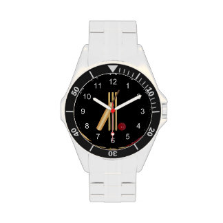 Game of Cricket Bat and Ball Wristwatches