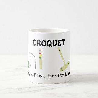 Game of Croquet with Saying Coffee Mug