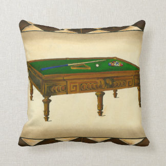 Game of Eight Ball on Billiards Table Cushion