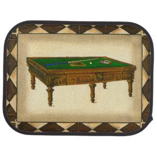 Game of Eight Ball on Billiards Table Floor Mat