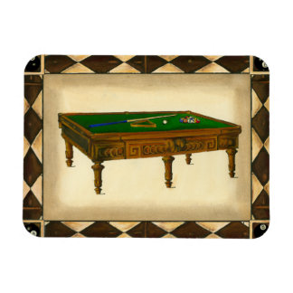 Game of Eight Ball on Billiards Table Magnet