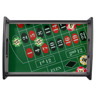 Game of Roulette Serving Tray