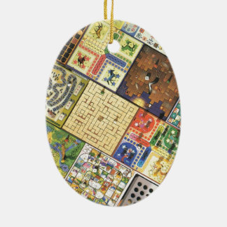Game on!  Board games Ceramic Ornament