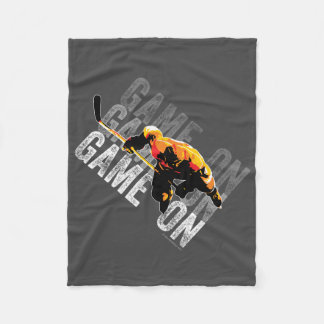 Game On (Hockey) Fleece Blanket
