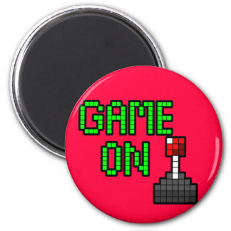 Game On Magnet - Hot Pink
