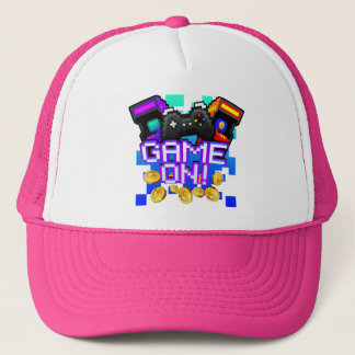 Game On! pink Trucker Hat