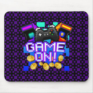 Game On! purple Mousepad