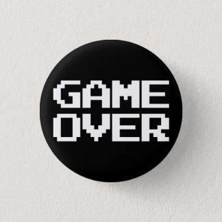 Game Over 3 Cm Round Badge