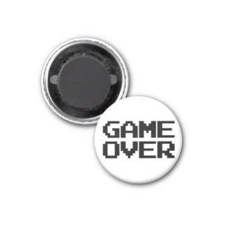 Game Over 3 Cm Round Magnet