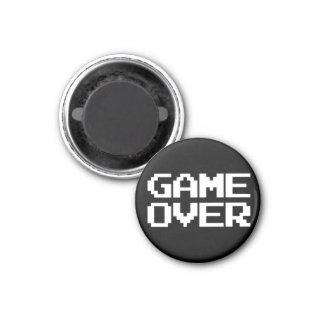 Game Over 3 Cm Round Magnet