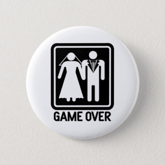 Game Over 6 Cm Round Badge
