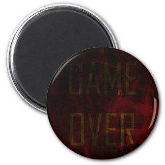 Game Over 6 Cm Round Magnet