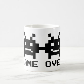 GAME OVER 8 bit pixel art mug for wedding couple