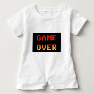 Game over 8bit retro baby bodysuit