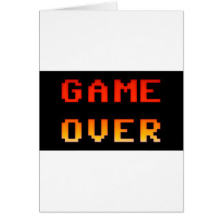 Game over 8bit retro card