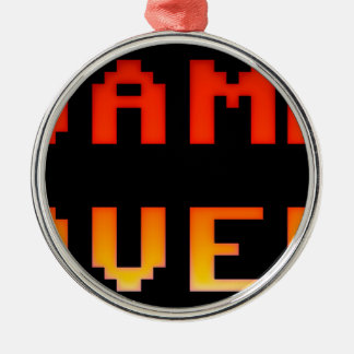 Game over 8bit retro metal ornament