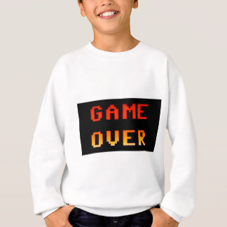 Game over 8bit retro sweatshirt