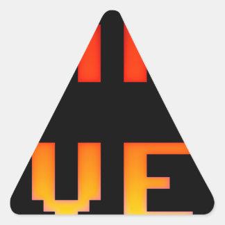 Game over 8bit retro triangle sticker