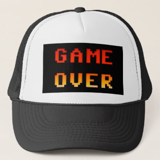 Game over 8bit retro trucker hat