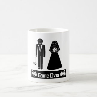 GAME OVER AFTER WEDDING MARRIAGE BASIC WHITE MUG