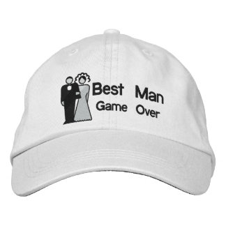 Game Over - Best Man Embroidered Baseball Cap