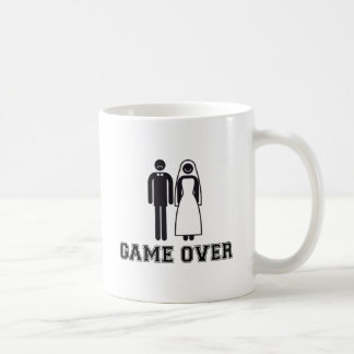 Game over, bride and groom, wedding couple basic white mug