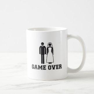 Game over, bride and groom, wedding couple basic white mug